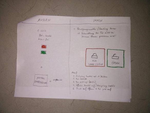 Entwurf zur Bahntoilettenverriegelung mit Bewegungsmelder